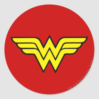 Wonder Woman Logo Round Sticker