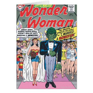Wonder Woman Married a Monster Card