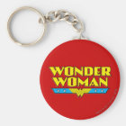 Wonder Woman Name and Logo Key Ring