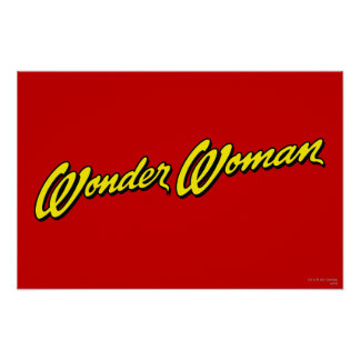 Wonder Woman Name Poster