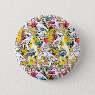 Wonder Woman Neon Pattern 6 Cm Round Badge