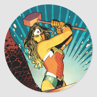 Wonder Woman New 52 Comic Cover #7 Round Sticker