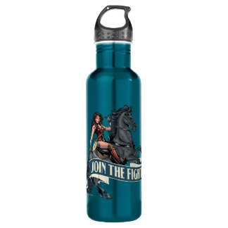 Wonder Woman on Horse Comic Art 710 Ml Water Bottle