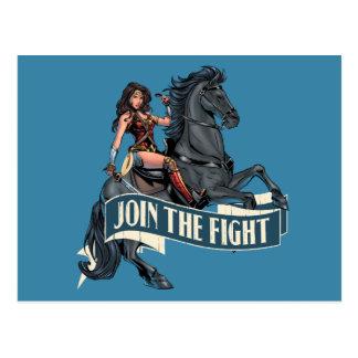 Wonder Woman on Horse Comic Art Postcard