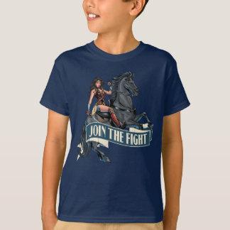 Wonder Woman on Horse Comic Art T-Shirt