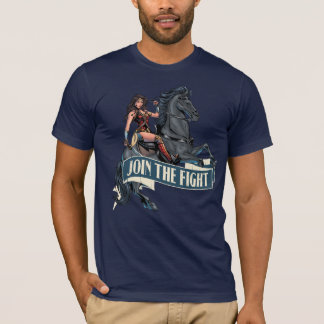 Wonder Woman on Horse Comic Art T-Shirt