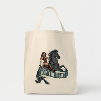 Wonder Woman on Horse Comic Art Tote Bag