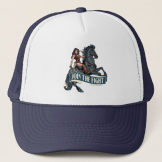 Wonder Woman on Horse Comic Art Trucker Hat