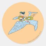 Wonder Woman on Spaceship Sticker