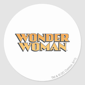Wonder Woman Orange Logo Round Stickers