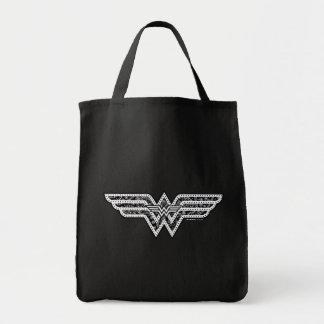 Wonder Woman Paisley Logo Grocery Tote Bag