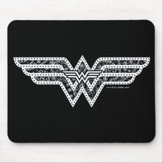 Wonder Woman Paisley Logo Mouse Pad