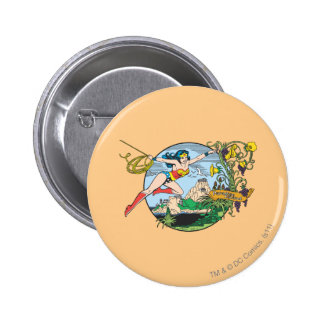 Wonder Woman Paradise Island Pinback Buttons