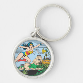 Wonder Woman Paradise Island Key Ring