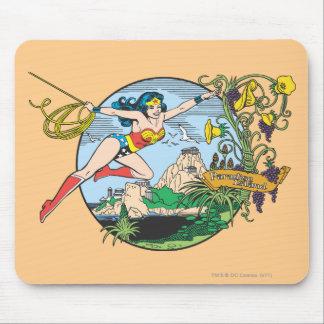 Wonder Woman Paradise Island Mousepads