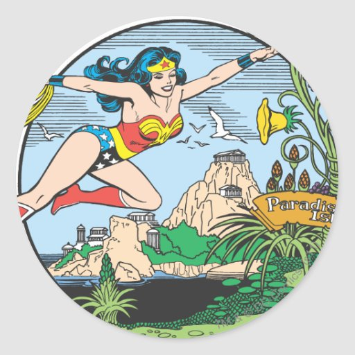 Wonder Woman Paradise Island Stickers