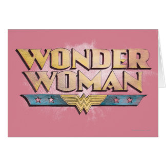 Wonder Woman Pencil Logo Card
