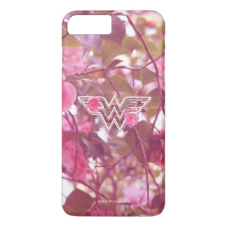 Wonder Woman Pink Camellia Flowers Logo 3 iPhone 8 Plus/7 Plus Case