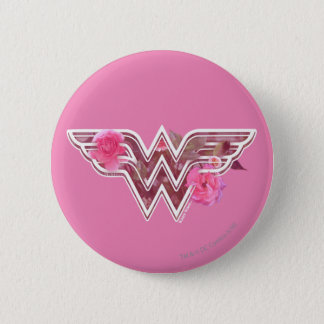Wonder Woman Pink Camellia Flowers Logo 6 Cm Round Badge