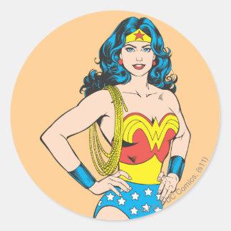 Wonder Woman Portrait Classic Round Sticker