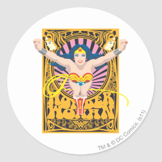 Wonder Woman Poster Round Sticker