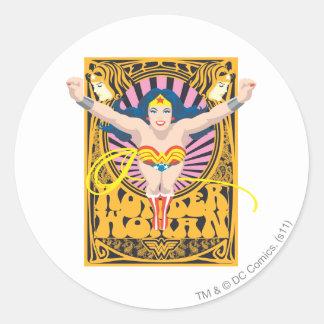 Wonder Woman Poster Round Sticker