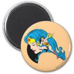 Wonder Woman Profile Background Fridge Magnets