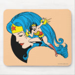 Wonder Woman Profile Background Mouse Pad