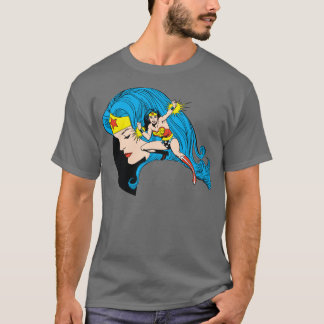 Wonder Woman Profile Background T-Shirt