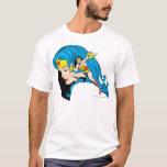Wonder Woman Profile Background T-Shirt