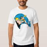 Wonder Woman Profile Background Tee Shirt