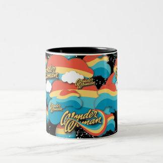 Wonder Woman Rainbow Clouds 1 Two-Tone Mug