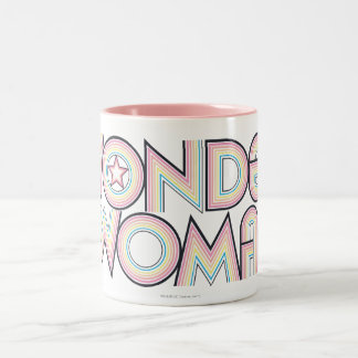 Wonder Woman Rainbow Logo Two-Tone Mug