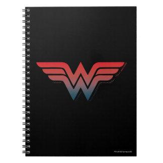 Wonder Woman Red Blue Gradient Logo Notebook