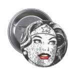 Wonder Woman Red Lips 6 Cm Round Badge