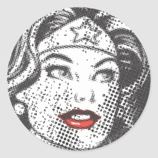 Wonder Woman Red Lips Stickers
