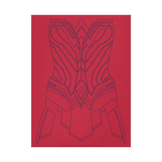 Wonder Woman Red & Navy Armor Outline Canvas Print