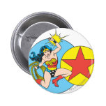 Wonder Woman Red Star Buttons