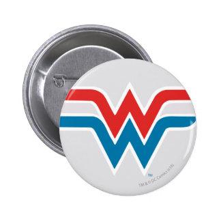 Wonder Woman Red White and Blue Logo 6 Cm Round Badge