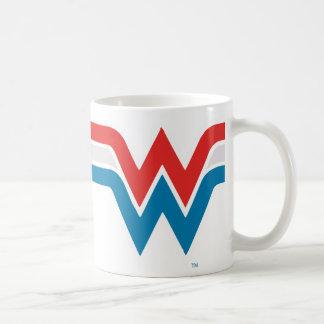 Wonder Woman Red White and Blue Logo Coffee Mug