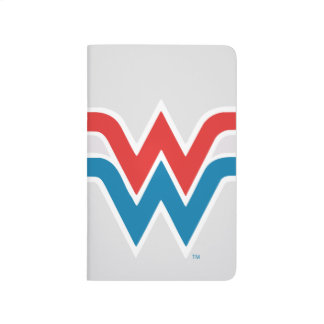 Wonder Woman Red White and Blue Logo Journal