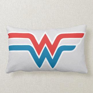 Wonder Woman Red White and Blue Logo Lumbar Pillow