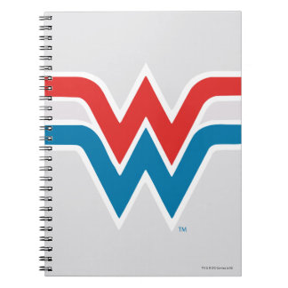 Wonder Woman Red White and Blue Logo Notebook