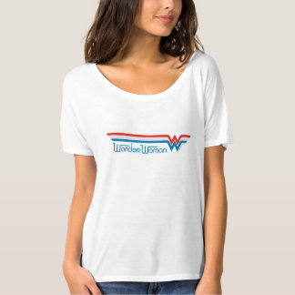 Wonder Woman Red White and Blue Logo T-Shirt