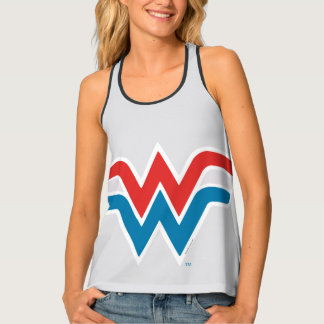 Wonder Woman Red White and Blue Logo Tank Top