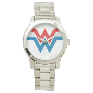 Wonder Woman Red White and Blue Logo Wrist Watch
