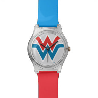 Wonder Woman Red White and Blue Logo Wristwatches