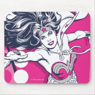 Wonder Woman Retro Glam Character Art Mouse Pad