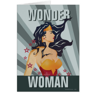 Wonder Woman Retro Profile Sunburst Card