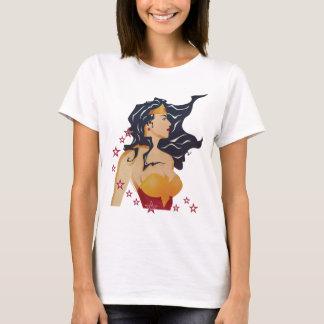 Wonder Woman Retro Profile Sunburst T-Shirt